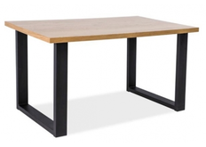 Столик кофейный Signal Umberto B 110*60*h54 см  дуб/ножки металлические черные