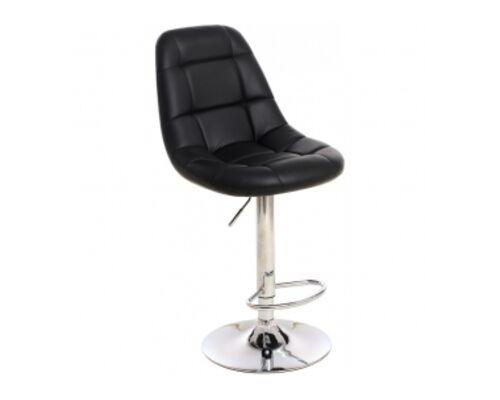 Барный стул B-45 кожзам черный /основание металл - Фото №1