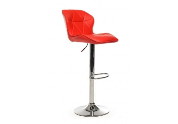 Барный стул B-70 кожзам красный /основание металл - Фото №1
