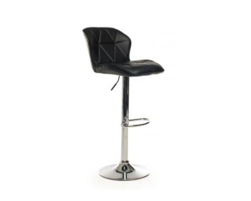 Барный стул B-70 кожзам черный /основание металл - Фото №1