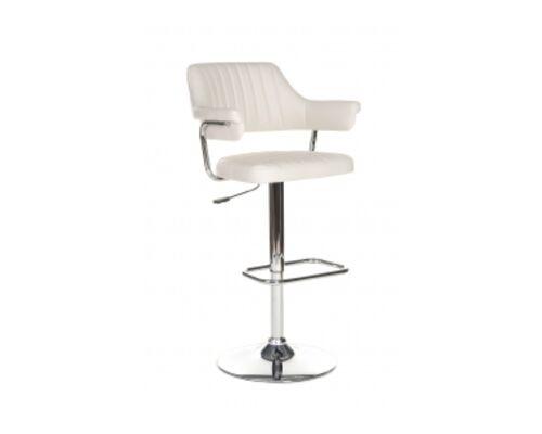 Барный стул B-90 кожзам бежевый /основание металл - Фото №1