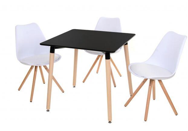 Стол обеденный ТM-30 столешница МДФ цвет черный / ножки дерево бук - Фото №2