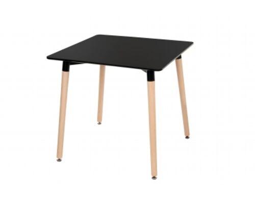 Стол обеденный ТM-30 столешница МДФ цвет черный / ножки дерево бук - Фото №1