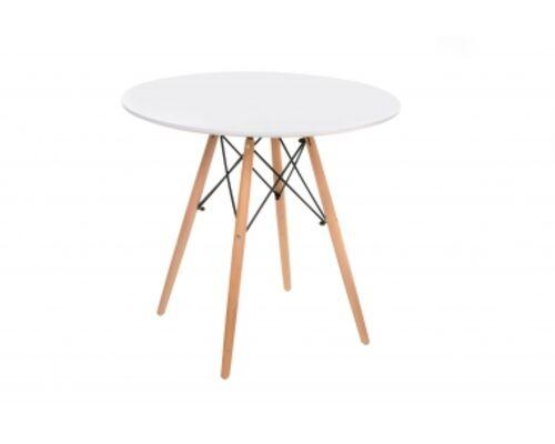 Стол деревянный ТМ-35 белый столешница МДФ / ножки дерево  - Фото №1