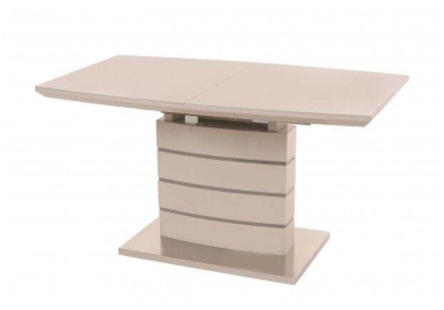 Стол обеденный ТМ-50-1 капучино-латте столешница МДФ+стекло / основание МДФ - Фото №1