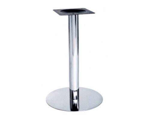 Опора для стола Тахо нержавеющая сталь h72 см основание 50 - Фото №1