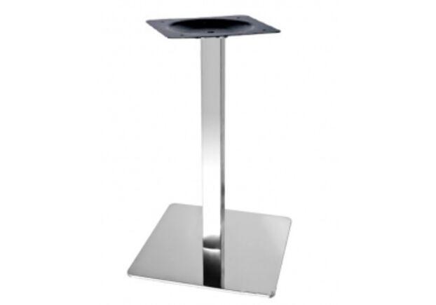 Опора для стола Кама нержавеющая сталь h72 см основание 40 см - Фото №1