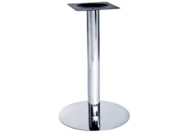 Опора для стола Тахо нержавеющая сталь h70 см основание 45 см - Фото №1