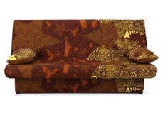 Диван Ньюс с двумя подушками ткань State brown