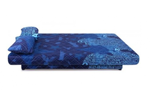 Диван Ньюс с двумя подушками ткань State blue - Фото №2