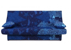 Диван Ньюс с двумя подушками ткань State blue