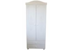 Шкаф двухдверный Анжелика цвет белый