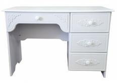 Стол письменный Анжелика цвет белый