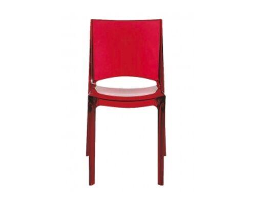 СТУЛ B-SIDE transparente rosso rubino (Би-сайд красный рубин прозрачный) - Фото №1