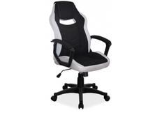 Кресло офисное Camaro  Signal хром механизм Tilt ткань черная с серым