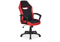 Кресло офисное Camaro  Signal хром механизм Tilt ткань черная с красным