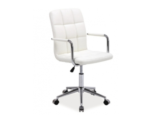 Кресло Q-022 Signal экокожа белая - Фото №1