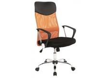 Кресло офисное Q-025 Signal механизм Tilt ткань мембранная черная/сетка оранжевая