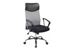 Кресло офисное Q-025 Signal механизм Tilt ткань мембранная черная/сетка серая