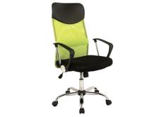 Кресло офисное Q-025 Signal механизм Tilt ткань мембранная черная/сетка зеленая
