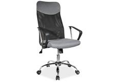 Кресло офисное Q-025 Signal механизм Tilt ткань серая/сетка черная