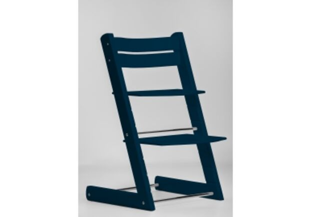 Детский растущий стул цвет темно синий dark blue - Фото №1