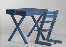 Растущий ортопедический комплект для обучения парта и стул цвет лазурный azure