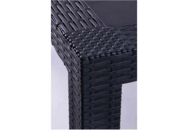 Стол Urano 140х80 пластик под ротанг антрацит - Фото №2