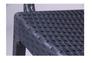 Стул с подлокотниками Dafne пластик под ротанг антрацит - Фото №2