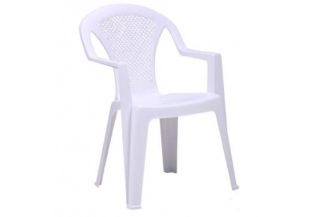 Стул Ischia пластик белый 01 - Фото №1