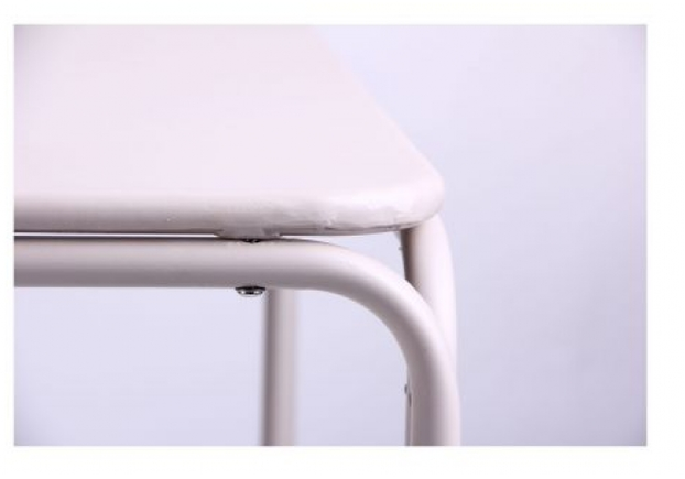 Стол Бурбонне hy-t123 сталь сетка pm-019 светло серый 7502 - Фото №2