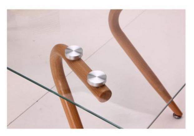 Стол журнальный Willow каркас бук/стекло прозрачное - Фото №2