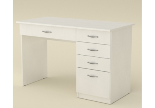 Стол офисный 1155*550*h736 мм белый - Фото №1