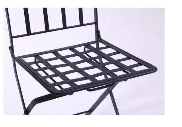 Стул Арманьяк складной сталь сетка тканная черный/мозаика - Фото №2