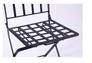 Стул Арманьяк складной сталь сетка тканная черный/мозаика - Фото №7