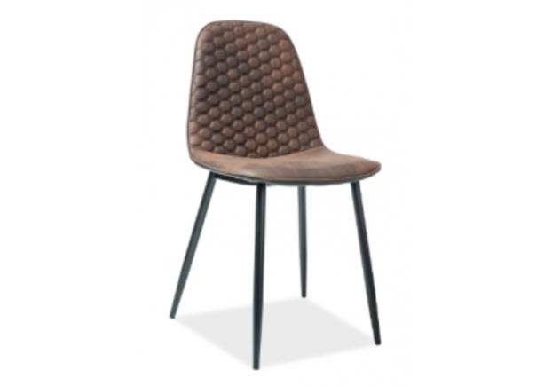 Кресло Teo D Signal коричневый/каркас металлический черный - Фото №1