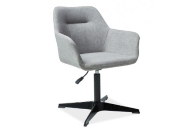 Кресло Signal Kubo серый/каркас металлический черный - Фото №1
