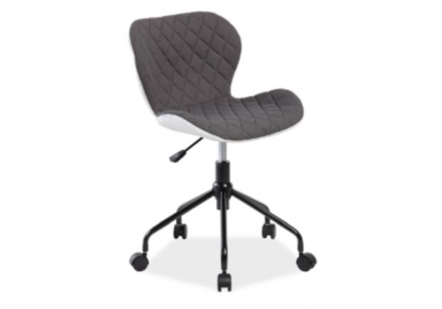 Кресло вращающееся Rino Signal серый с белым - Фото №1
