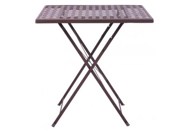 Стол Бретань складной/сталь сетка тканная какао - Фото №2