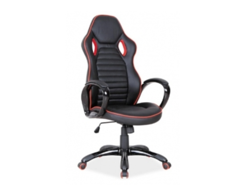 Кресло офисное Q-105 Signal механизм Tilt черный/красные края - Фото №1