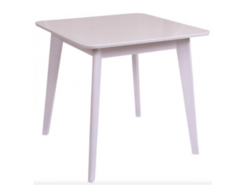 Стол обеденный квадратный Модерн шпон 80*80*h77 см белый - Фото №1