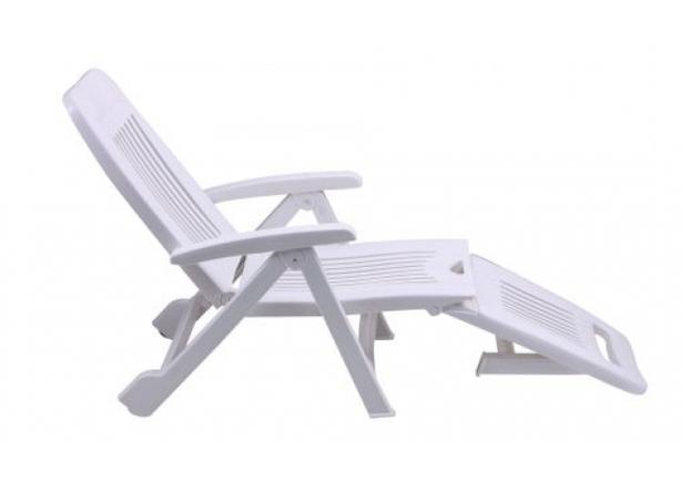 Шезлонг Fiorello пластик белый 01 - Фото №2