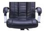 Кресло Парис хром/кожа Люкс комбинированная черная - Фото №5