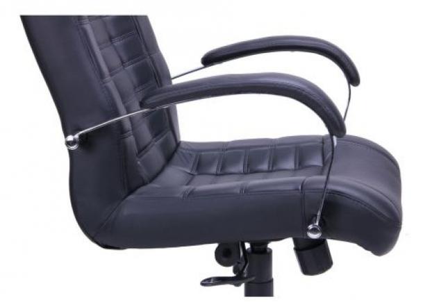 Кресло Парис хром/кожа Люкс комбинированная черная - Фото №2