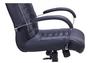 Кресло Парис хром/кожа Люкс комбинированная черная - Фото №4