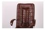 Кресло Парис хром/кожа Люкс комбинированная коричневая - Фото №5