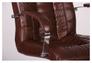 Кресло Парис хром/кожа Люкс комбинированная коричневая - Фото №7