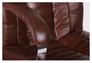 Кресло Парис хром/кожа Люкс комбинированная коричневая - Фото №9