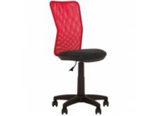 Детское кресло черное с красной спинкой