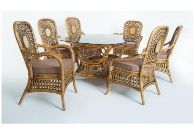 Кресло CRUZO Ацтека натуральный ротанг светло коричневый  - Фото №2